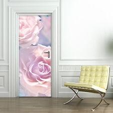 PT0155 Wall Stickers Adesivi Murali Adesivo Porta casa decoro rosa 100X210 cm