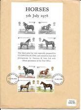 1978 Horses On Black Print FDC SCARCE
