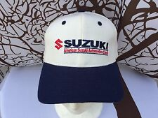 🔥Suzuki Motors Automotive hat One Size Adjustable Blue/White Kennedy Wool Blend