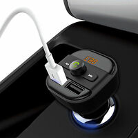 UK Bluetooth Car Kit Wireless FM Transmitter Dual USB Charger Audio MP3 Player