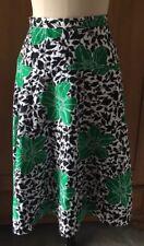 73ecee2e1 Vintage GIVENCHY Drop Waist A-Line Cotton Blend Skirt w/Orchid Design Size S