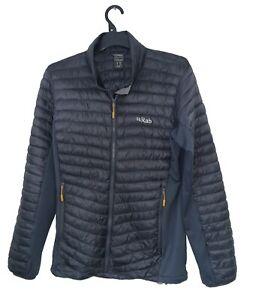 Men's RAB Premium CIRRUS Black FLEX Jacket UK Size S *VGC*