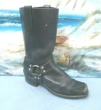 VINTAGE LEATHER Motorcycle BOOTS Mens Sz 10  8193