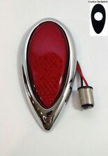 (1) 1938-39 Ford LED Tail Light w/ Chrome Flush Mount Bezel w/ Gasket