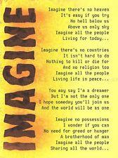 IMAGINE MUSIC JOHN LENNON LYRICS MOTIVATION TYPOGRAPHY QUOTE ART POSTER QU271A