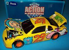 Steve Grissom 1996 Cartoon Network #29 Flintstones 1/24 Vintage NASCAR Bank