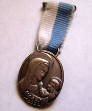 Vintage Girl Scout Catholic Ministry MARIAN AWARD MEDAL Religious Christian RARE