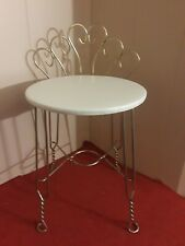 """Vintage 17 1/2"""" High Seat Twisted Brass Chair 2' Back"""