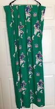 Vintage Nfl Curtain Panel Green 50/50 1970s Sears Usa Patriots Pinch PleatFresh