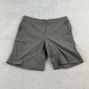 L.L. Bean Bermuda Shorts Women 10 Gray Mid Rise Stretchable Waist Pockets