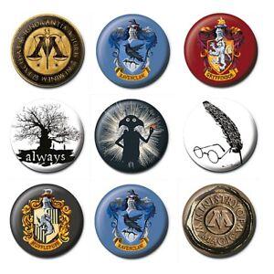 Genuine Harry Potter Logo Button Badge Pin Warner Bros Hogwarts Dobby Crest