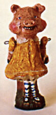 Salamander Poliwoggs JOINTED PIGGY GIRL IN YELLOW DRESS FIGURINE Retired!