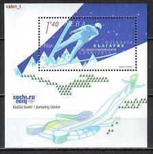 2014 Bulgaria Winter Olympic games Sochi ski Jump Souvenir sheet MNH **