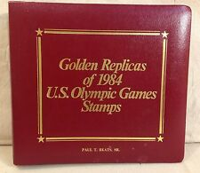 GOLDEN REPLICAS OF 1984 US OLYMPIC GAMES STAMPS