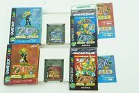 The Legend of Zelda Oracle of Seasons & Ages GBC Nintendo Gameboy COLOR Box USED