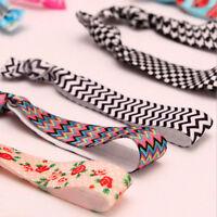 10pcs buntes Muster keine Falten Haargummis Pferdeschwanz Armbänder Seil