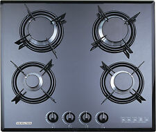 F4-B60 60cm Built-in Gas hob 4 burner FFD Cooktop black Tempered glass NG use