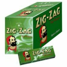 Full Box- 100 Packs ZIG ZAG CIGARETTE PAPERS 70mm Size FREE PRIORITY SHIPPING