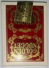 Vintage GOLDEN NUGGET GAMBLING HALL AND ROOMING HOUSE SEALED Playing Cards red