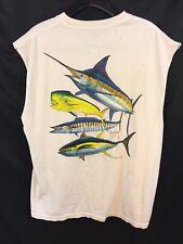 Guy Harvey sin Mangas Cuello Redondo Camiseta Hombre Grande Preencogido Pescado