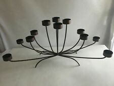 """Vintage12 Tealight Candle Holder Large Table Centerpiece Metallic Brown 23X10X6"""""""