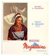 Buvard publicitaire biscottes Magdeleine Granville Coiffes de normandie n° 58