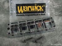 New Warwick Chrome 5 String Bass Bridge Tailpiece Thumb Corvette Streamer Katana