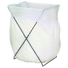 STEEL METAL WIRE FOLDING, PLASTIC TRASH BAG HOLDER FRAME STAND & STRETCHER