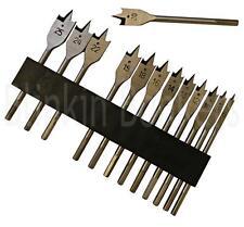 METRICA In Titanio Piatto Legno Spade Drill Bit Set Hex Foro Cutter Taglio Fresatrice 12B