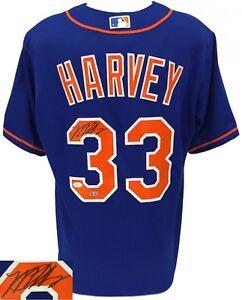 Matt Harvey Signed New York Mets Authentic Majestic Jersey (JSA COA & MLB)