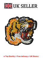 Tiger Iron / Sew On Embroidered Patch Badge roaring Feline Embroidery Cat Motif