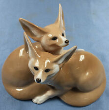 Fuchs Wüstenfuchs füchse Royal Copenhagen porzellanfigur figur porzellan fox