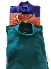 Lot of (3) LANDS' END Long Sleeve Mock Turtle Neck Shirts Tops Small Tall 6-8