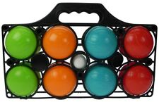 New Petanque 8 Plastic Boules In A Basket, Supplied With 1 Plastic Jack