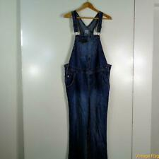 MATERNITY Cotton Work Denim Jeans Overalls Womens Size M blue