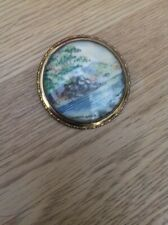 Thomas L Mott Vintage Costume Jewellery Brooch Derwent Water