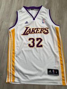 Lakers Adidas Jersery White Johnson 32 Size Medium
