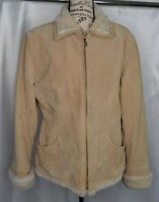 Adler Collection Woman's Size XL Suede Leather with Faux Fur Coat