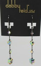 DABBY REID NEW Prism Hand Crafted Long Crystal Drop Earrings HLE 4109B Y11