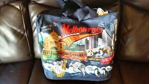 Australia souvenir navy blue Melbourne shopping tote hand bag  NEW 45cm x 32cm