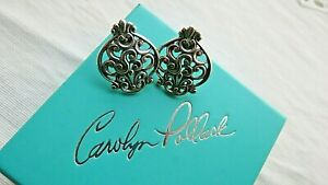 Carolyn Pollack Sincerely Essential Sterling Button Earrings-NIB