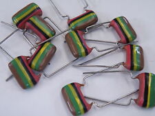 10 Pcs Mullard C280 Tropical Fish Vintage Capacitors 250V 150nF = 0.15uF =154
