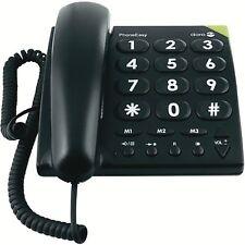 Doro PhoneEasy 311c Schwarz Festnetz-Telefon Analog, 3Direktasten Großwahltasten