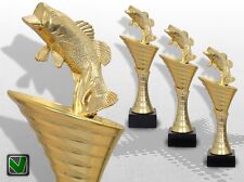 3er Pokalserie OLYMP ANGELN Pokale mit Gravur Angel Pokale günstig kaufen
