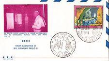 FDC BUSTA PRIMO GIORNO EMISSIONE PAPA GIOVANNI PAOLO II A DESIO 1983  C6-533