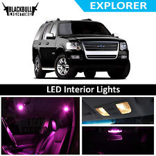 Pink LED Interior Lights Replacement Kit for 2002-2010 Ford Explorer 11 bulbs