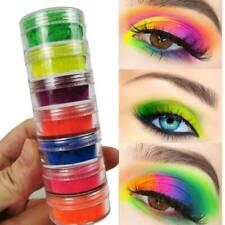 6 Box Neon Eyeshadow High Pigment Loose Powder Yellow Green Blue Eye Shadow Dust