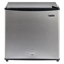 Small Stainless Steel 1.1CuFt Upright Freezer W/ Lock Kitchen Fridge Appliance