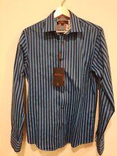 NEW Ben Sherman MARGATE Medium Tailored Fit Long Sleeve Blue Shirt $99.95