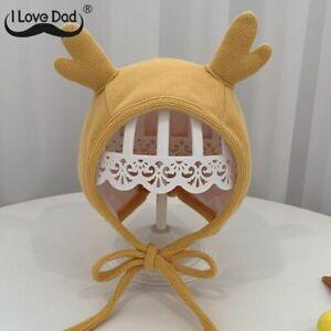 Hats Long Ear Bunny Winter Baby Bonnet Infant Toddler Warm Earflap Kids Newborn